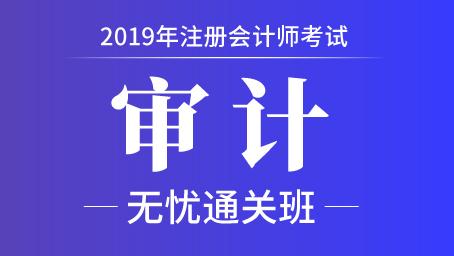 2019年注册会计师课程+题库-审计