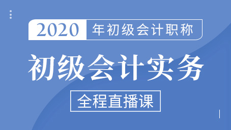 2020年初级会计实务精讲班第四讲